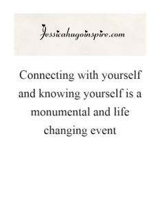 Connecting with yourself