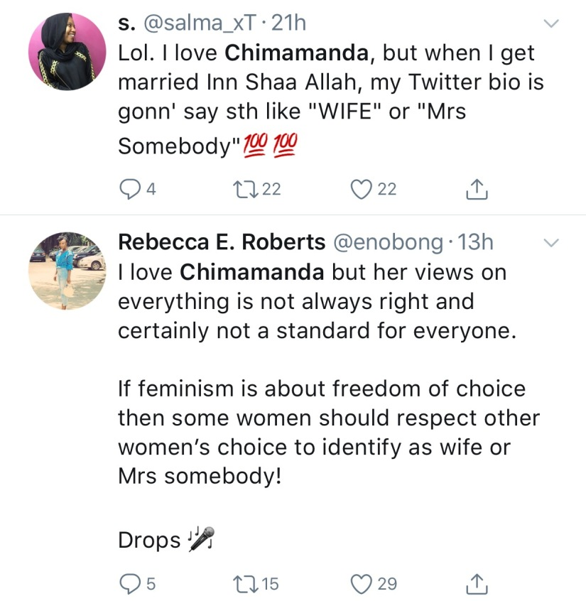 Twitter rants on Chimamanda Adichie's feminism