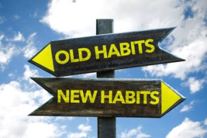Changing our habits in order to achieve success.
